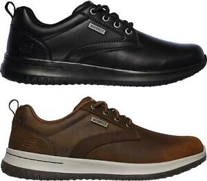botella Alegre itálico  Skechers DELSON-ANTIGO Mens Waterproof Genuine Leather Lace Up ...