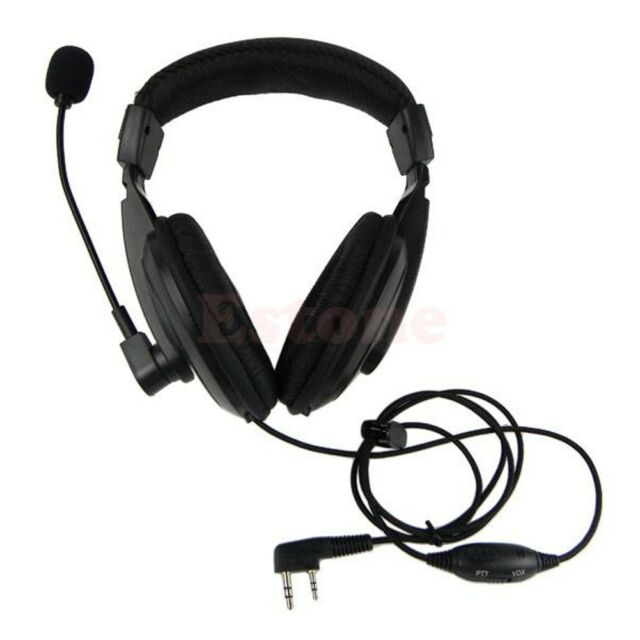 Hot 2 pin VOX Headset Headphone Earpiece For Kenwood Qansheng Baofeng UV5R Radio