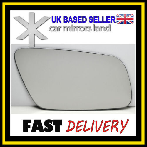 Right Driver Wing Car Mirror Glass Replacement CONVEX AUDI A3 A4 A6 A8 99-03