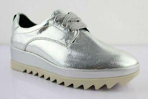 brand new b701f c16cc Details zu Tommy Hilfiger Emanuela Sneaker Low Schuhe Shoes Silber Non  Leder Gr. 37