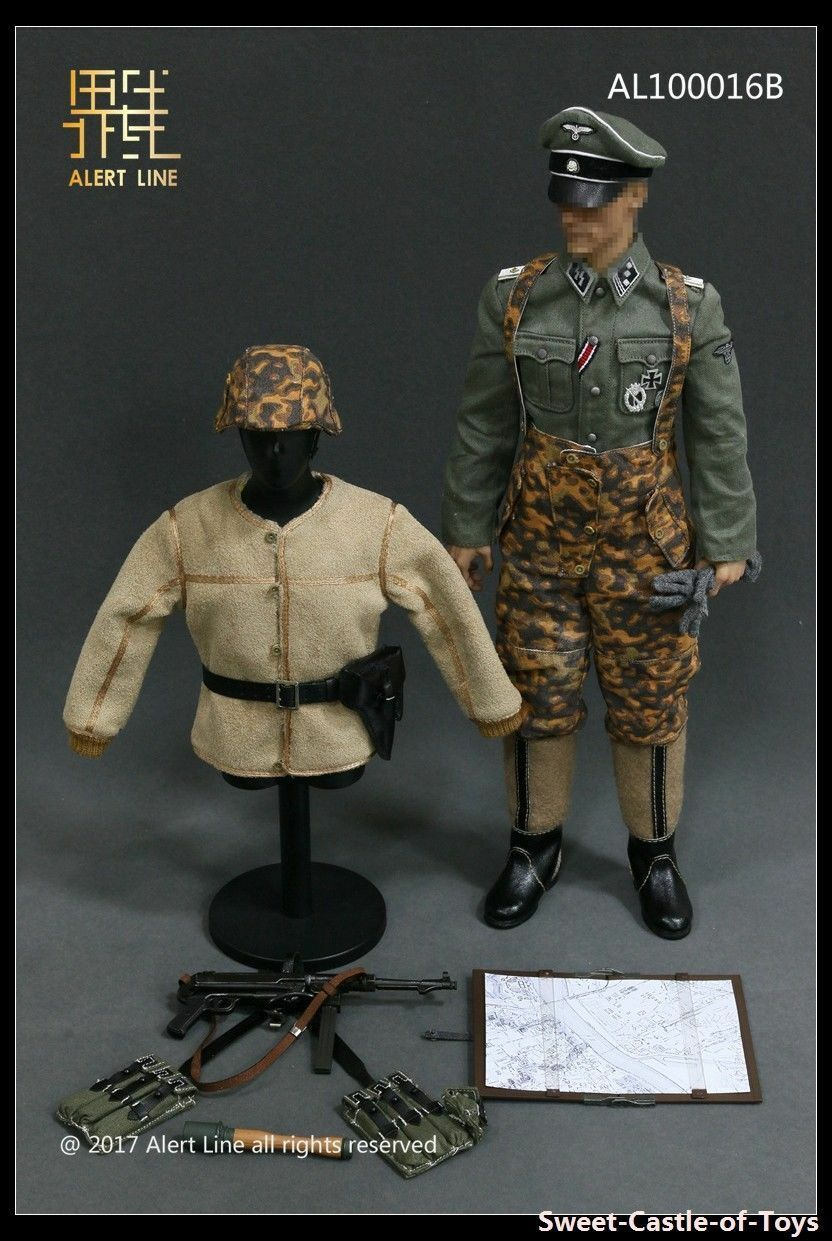 ALERT LINE 1 6 SCALE WWII GERMAN OFFICER with MP40 AL100016B ( NO FIGURE )