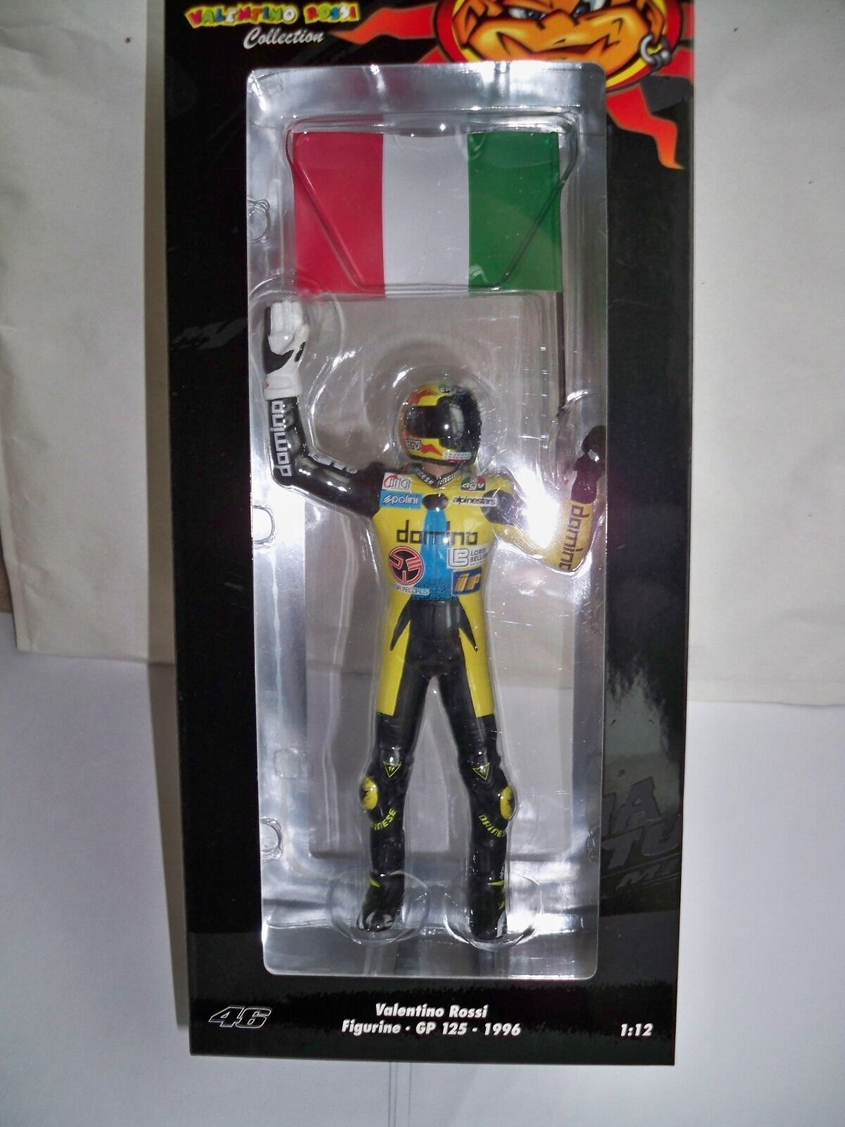MINICHAMPS FIGURINE GP 125 1996 V.ROSSI 1 12 SCALE NEW