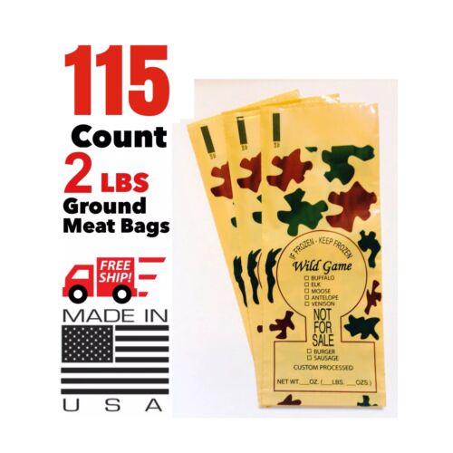 115 PORSAUSAGE GROUND MEAT FREEZER CHUB BAGS 2LB SIZE FREE SHIPPING