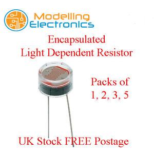 Encapsulated Light Dependant Resistor LDR Photo Cell   eBay