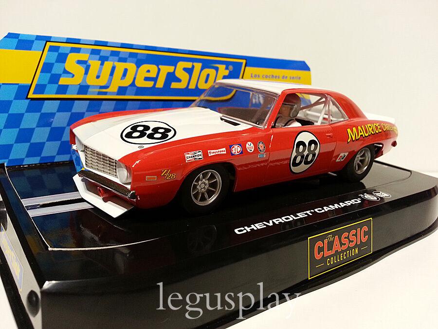 Slot SCX Scalextric Superslot H2891 Chevrolet Camaro - Maurice Carter Nº88