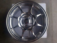 Srr Itr Type-r Style 15x6.5 4x100 +42 Polished Wheels Set For Honda Civic/integr