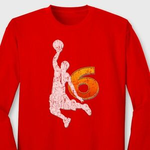 c32ff89c LeBron James Miami Heat Champion T-shirt NBA King James 6 Dunk Long ...