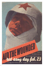 aid the wounded  RED ARMY DAY VINTAGE POSTER F H K Henrion UK 1942 24X36