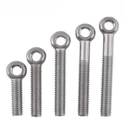 heyous 4pcs M10 304 Stainless Steel Ring Shape Lifting Eye Threaded Nut for Marine Hardware