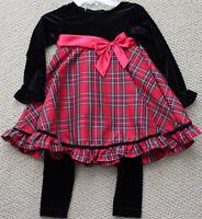 Starting Out Dress Leggings 6 M Pants 2 Pc Christmas Holiday Dillards Free