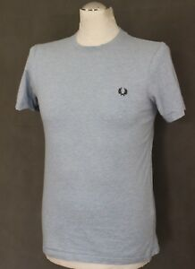 FRED-PERRY-Mens-Light-Blue-T-SHIRT-TEE-Size-Extra-Small-XS