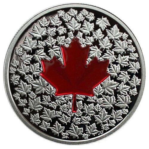 2013 $20 Maple Leaf Impression Colorized DC Proof Silver Commemorative