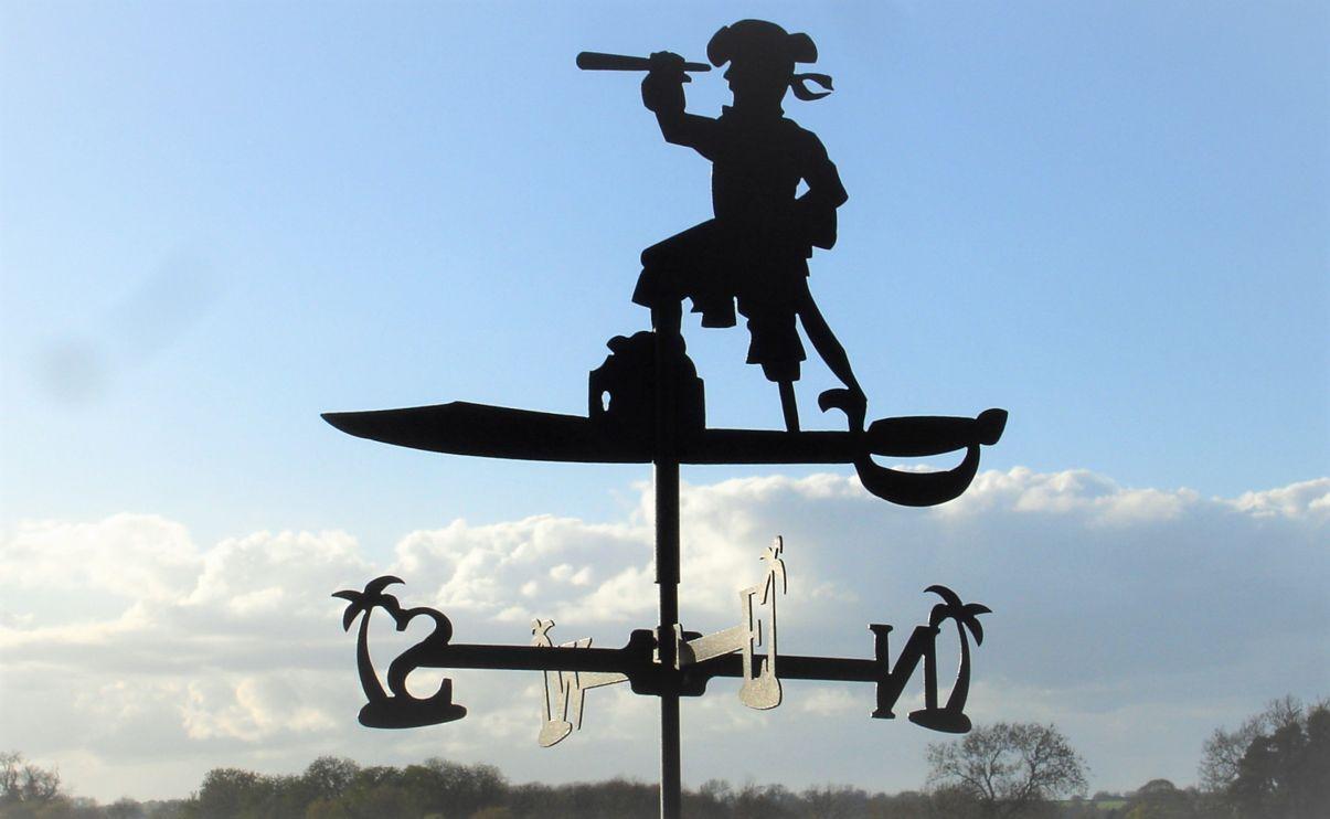 Estándar de fijación Pirata Metal Veleta (verdeical Soporte)