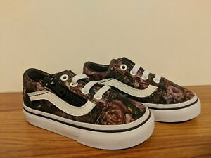 e4569eb81c VANS New Old Skool Zip Moody Floral Vault Toddler Size USA 5