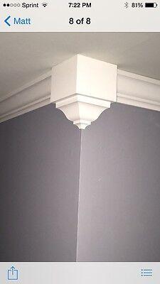Crown Moulding Outside Corner Blocks Made For 3 5 8 Transition 2 Pack Pine Ebay