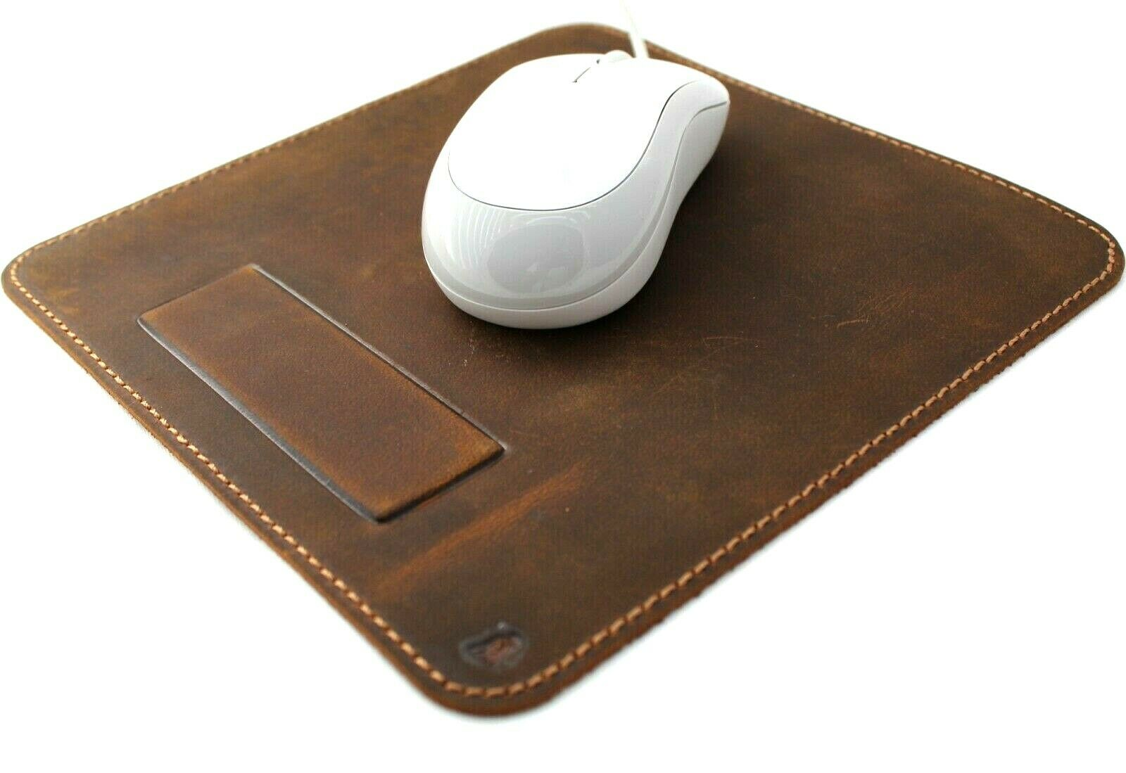 Image 31 - Handmade Genuine Leather Mouse Pad Luxury Handcrafted soft Vintage Retro Case