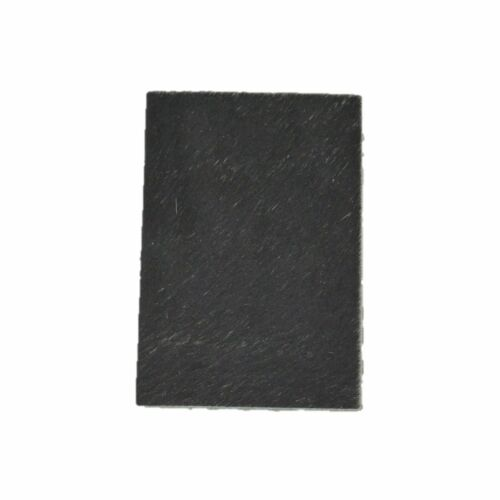 "Solid Black Leather Hair on Cow Hide 4/"" x 6/"" Pre-cut"