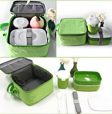 New High Quality Japanese Bento Lunch Box with Mug & Insulated Tote Bag Lunchbox