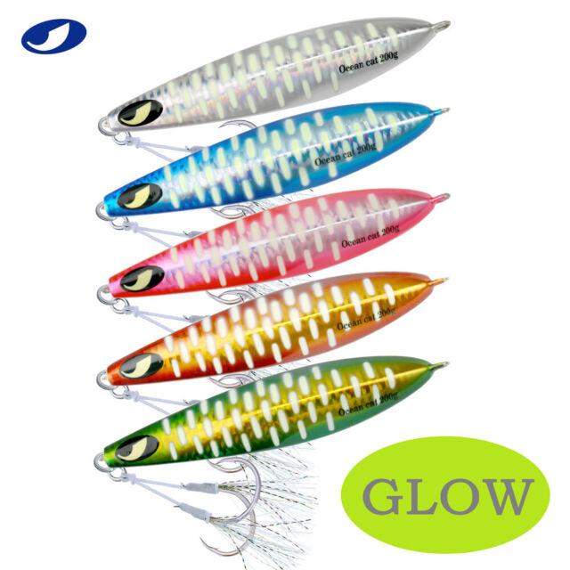 16PCS Metal Fishing Lures Jig Lead Feather Hook Slow Hard Bait 5g//3.15in Jigging