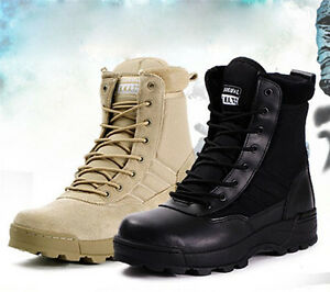 (Thick) men winter warm tactical military boots SWAT army combat boots shoes