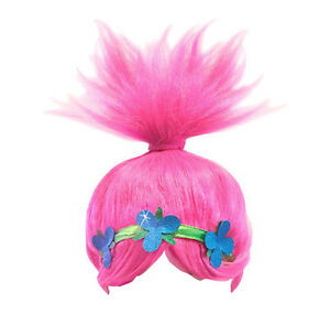 Trolls-Poppy-Parrucca-Bambina-Carnevale-Maschera-Cosplay-Girl-Wig-TROLC02W
