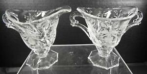 Antique-Heisey-Sugar-and-Creamer-Orchid-Pattern