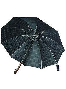Fred-Perry-Regenschirm-Schirm-Umbrella-Stockschirm-Navy-Tartan