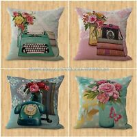 Cheap Throw Pillows For Bed Set Of 4 Cushion Covers European Vintage Floral