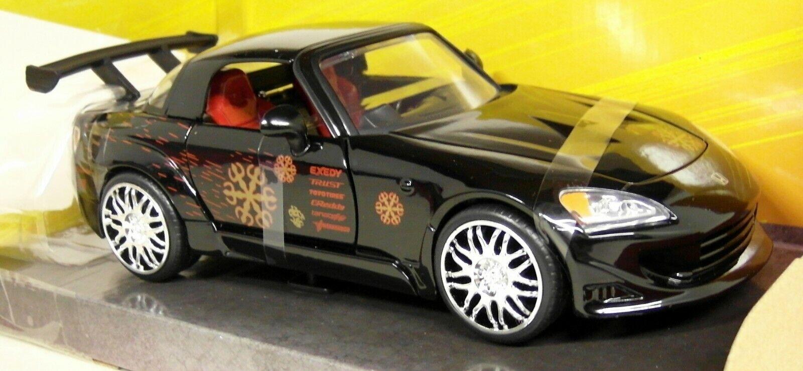 Jada 1 24 SCALA Fast & Furious Johnny'S HONDA S2000 negro MODELLO DIECAST AUTO