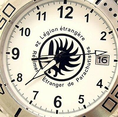 MONTRE FRENCH FOREIGN LEGION 2e REP ETRANGERE COMMANDO STAINLESS STEEL WATCH UHR