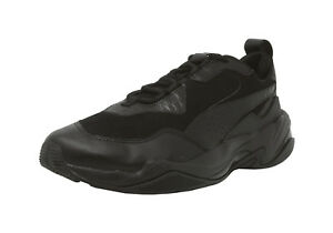 PUMA-Thunder-Desert-Black-Suede-Leather-Lace-Up-Sneakers-Adult-Men-Shoes