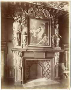 France Cheverny Le Chateau La Cheminee De La Salle Des Gardes