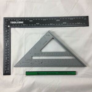 """METAL ROOFING RAFTER SET SQUARE 6"""" SPEED SQUARE ALLOY RAFTER/GUIDE 1 X pencil"""