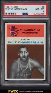 1961 Fleer Basketball Wilt Chamberlain ROOKIE RC #8 PSA 8 NM-MT