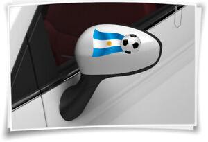 Fougueux 2x Argentine Drapeau Des Autocollants Football Autocollant Sport Wm Miroir Capuchons-afficher Le Titre D'origine