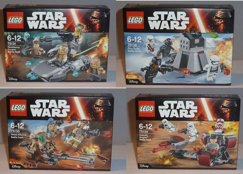 LEGO Star Wars 75131, 75132, 75133, 75134 – NEU  OVP  - MISB