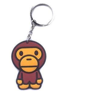 2018 A Bathing Ape Bape Keychain Key Alloy Keyring Baby Milo Ape Head Hot