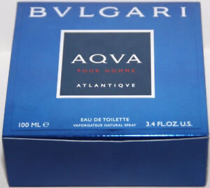Aqva Atlantiqve Pour Homme by Bvlgari cologne EDT 3.3 / 3.4 oz New in Box