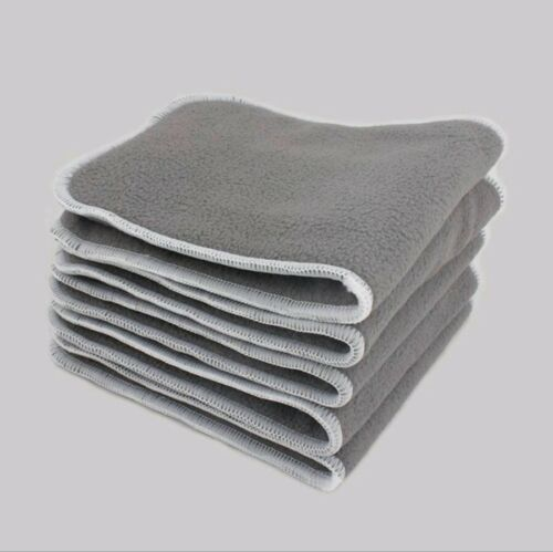 5 Pack New 5 Layer Charcoal Bamboo Microfiber Cloth Diaper Insert Nappy Liners