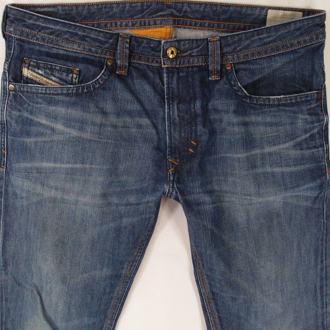 Mens Diesel THAVAR 0042N Slim-Skinny bluee Jeans W36 L32