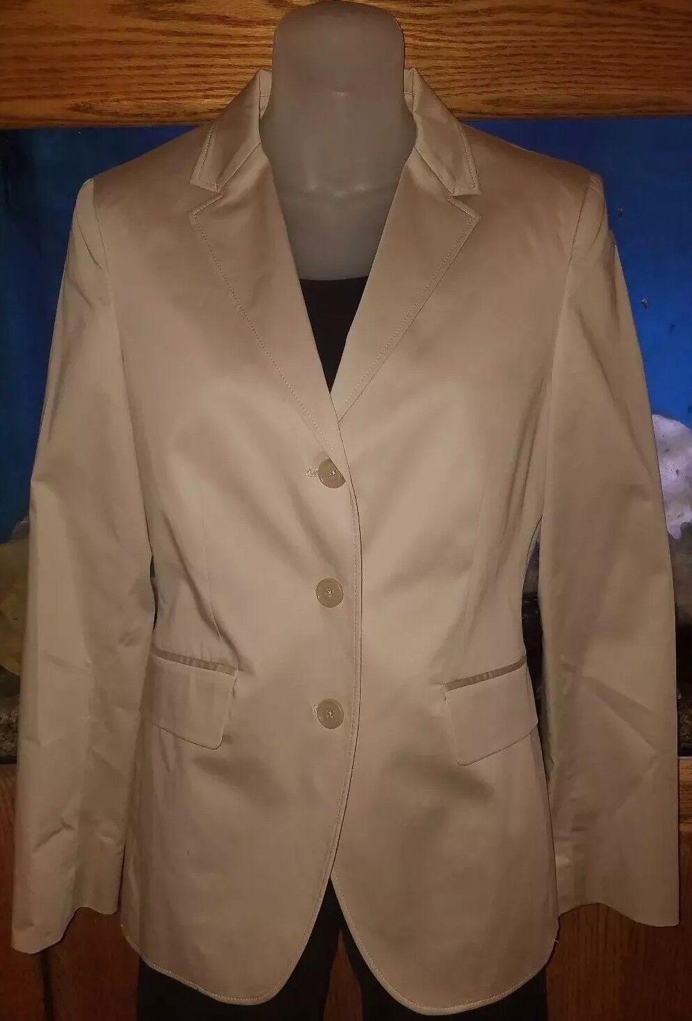 Brooks Bredhers 346 NWT Milano Fit Khaki Blazer Size 6