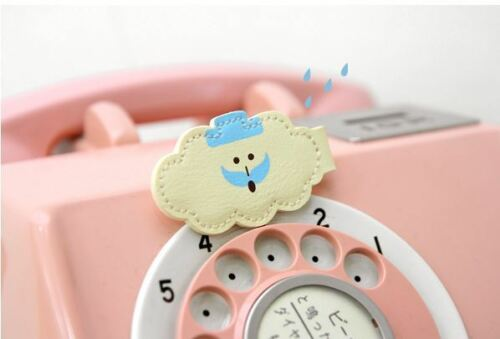 Qteen Cute Forest Animal Bear Cloud Tree Neat Cable Cord Winder Organizer Tie