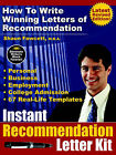 Instant Recommendation Letter Kit - How To Write Winning Letters of Recommendation (Revised Edition - POD) by Shaun Fawcett (Paperback, 2005)