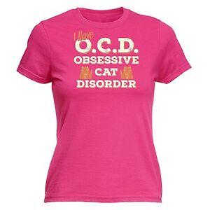 Tengo-OCD-Trastorno-obsesivo-Gato-Gatito-Para-Mujer-Camiseta-su-Divertido-Regalo-De-Cumpleanos
