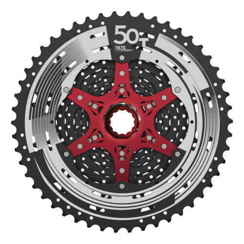 Black Sunrace CSMZ90-12 Speed Wide Range MTB Cassette 11-50