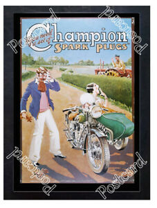 Historic-Champion-spark-plugs-Advertising-Postcard
