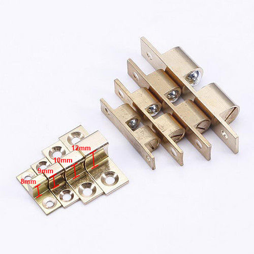 2PCS Brass Cabinet Door Drawer Push Open Catch Latch With Magnet Golden New