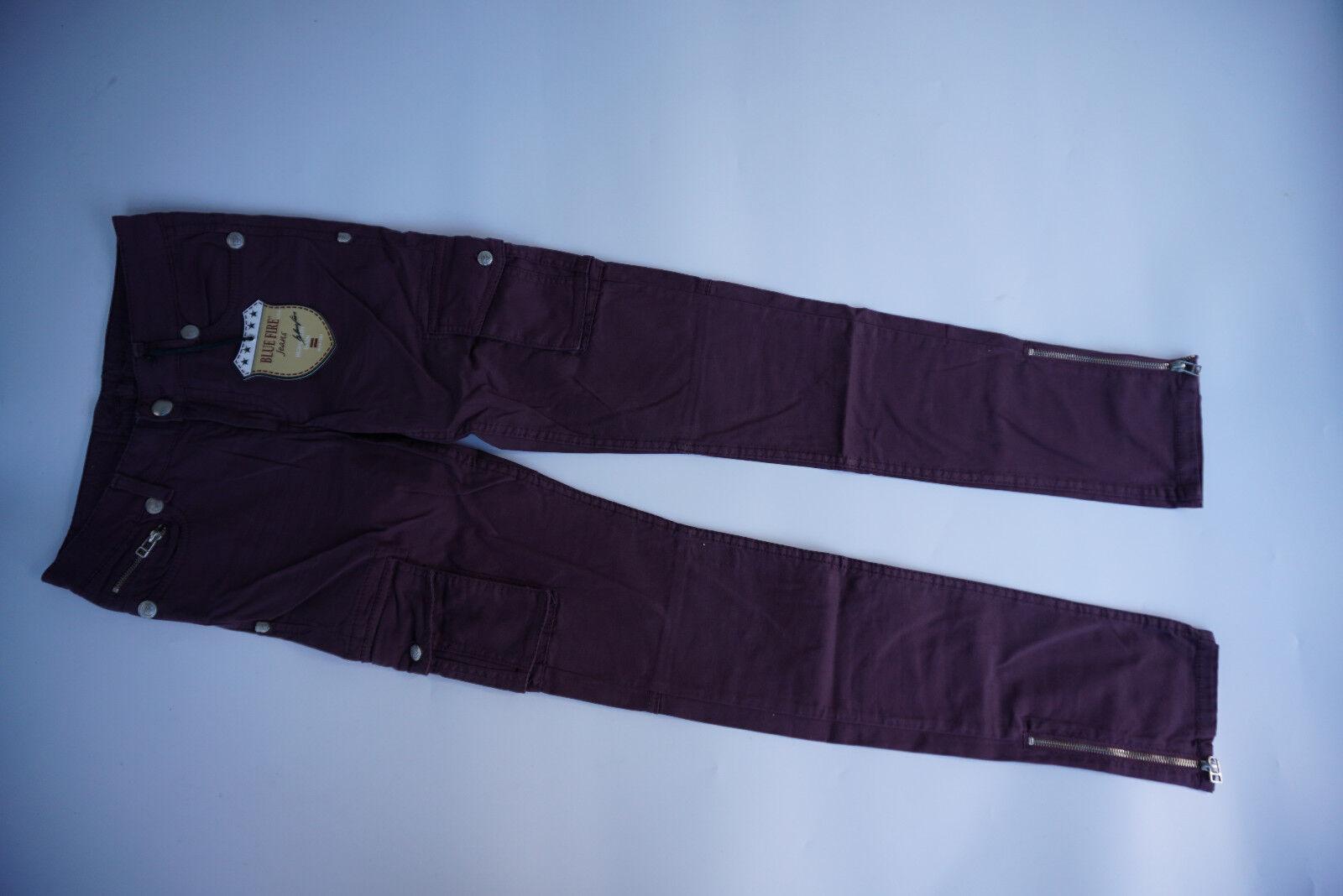 blueE FIRE Tyra Cargo super tight Stretch Jeans Hose purple 28 32 W28 L32 NEU B1