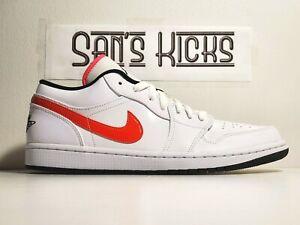 Details about Men's Air Jordan 1 Low Multi-Color/White CW7009-100 Size 9-13