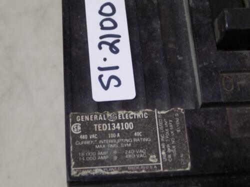 GENERAL ELECTRIC 100A 480VAC 3P CIRCUIT BREAKER TED134100